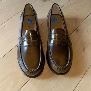 Polo ralph lauren burnished leather loafers